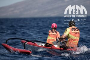 Kai and Lea in the Maui To Molokai Race