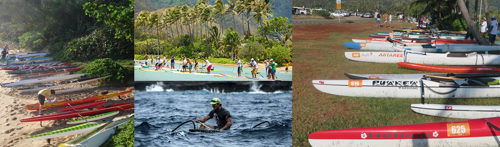 Kanaka Ikaika Race Series in Oahu hawaii - Outrigger Canoes, Stand Up Paddle Boards, Surfski
