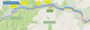 Map Of Downwind Run at The Gorge
